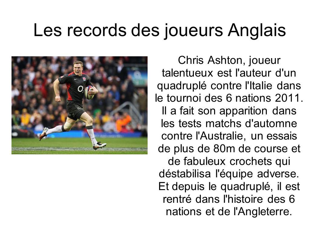 Les records des joueurs Anglais