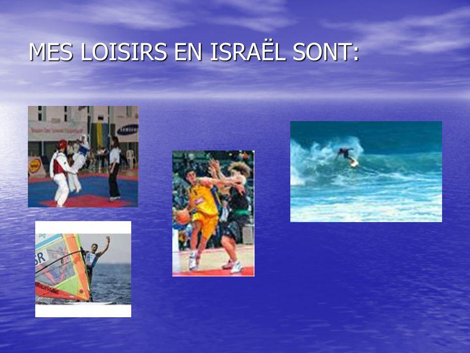 MES LOISIRS EN ISRAËL SONT: