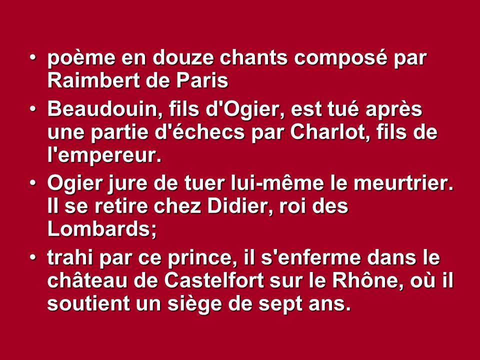 poème en douze chants composé par Raimbert de Paris