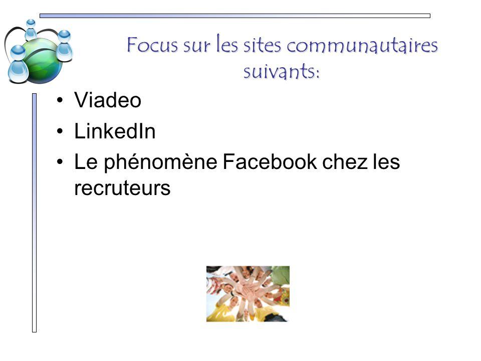 Focus sur les sites communautaires suivants: