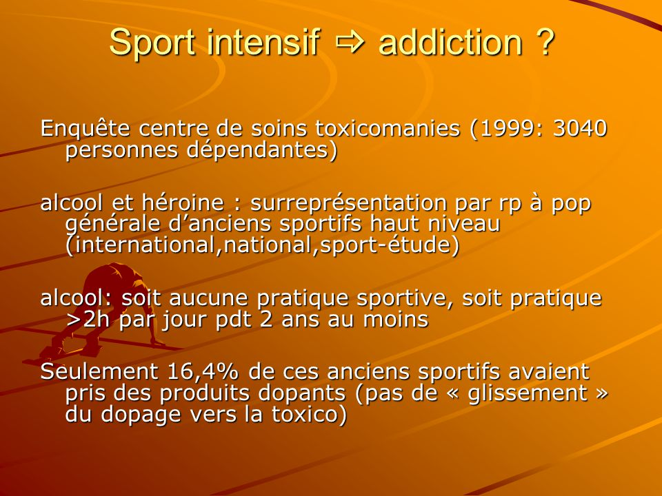 Sport intensif  addiction