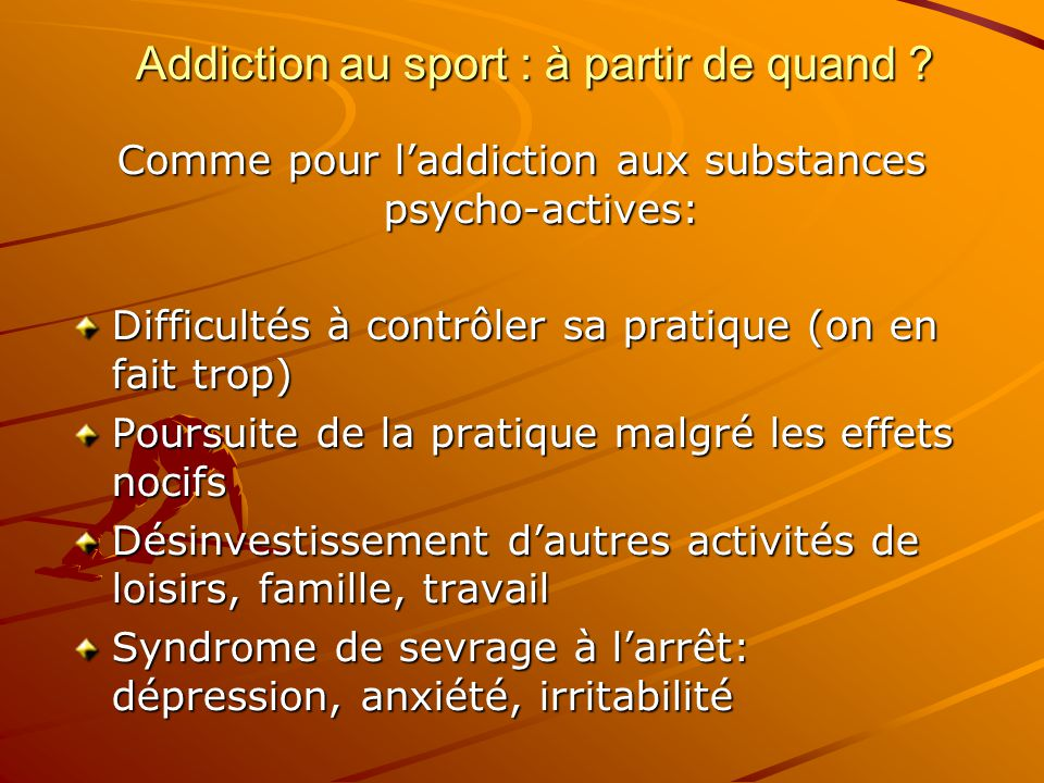 Addiction au sport : à partir de quand