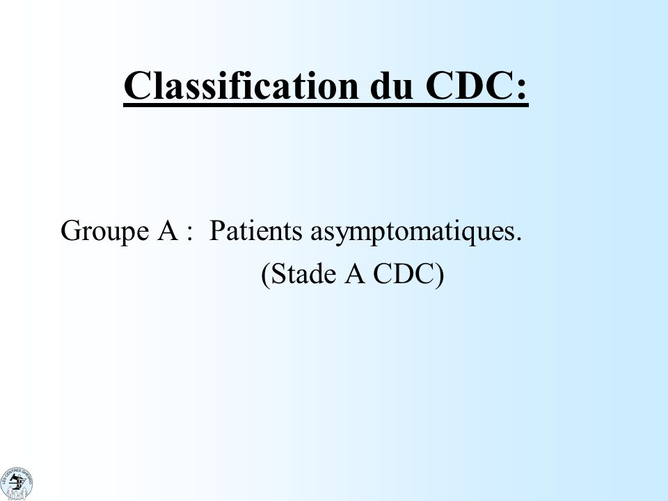 Classification du CDC: