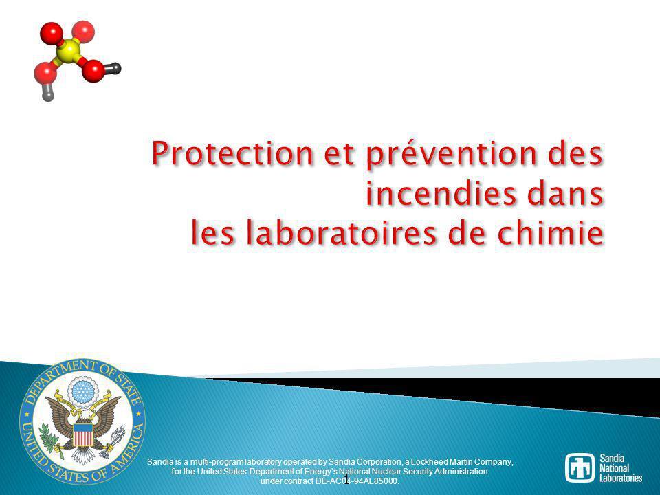 Protection et prévention des incendies dans les laboratoires de chimie