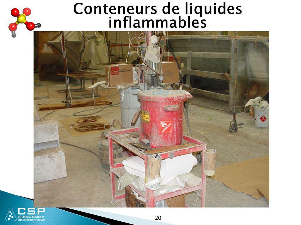 Conteneurs de liquides inflammables