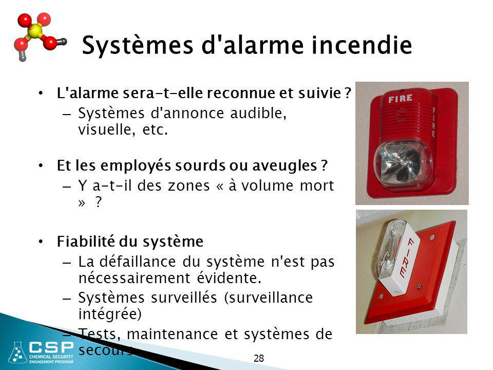 Systèmes d alarme incendie