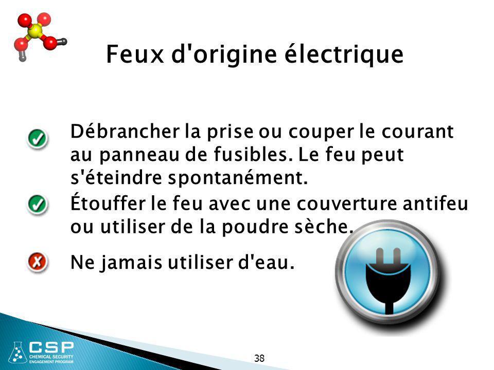 Feux d origine électrique