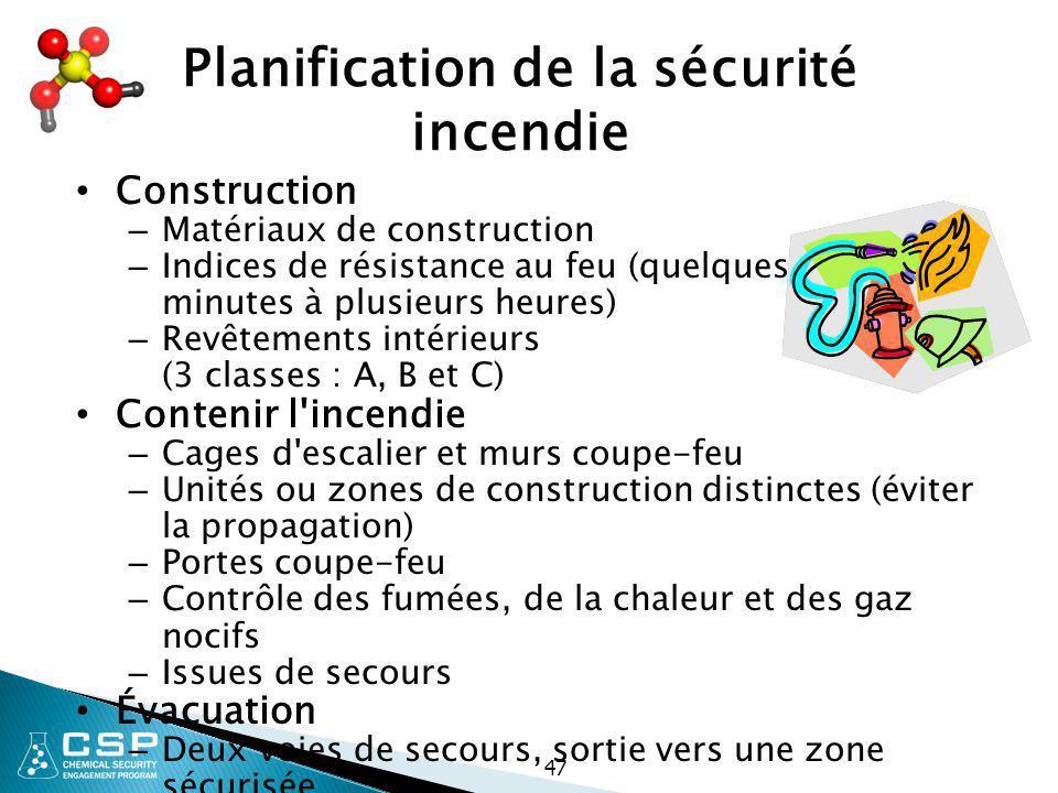 Planification de la sécurité incendie