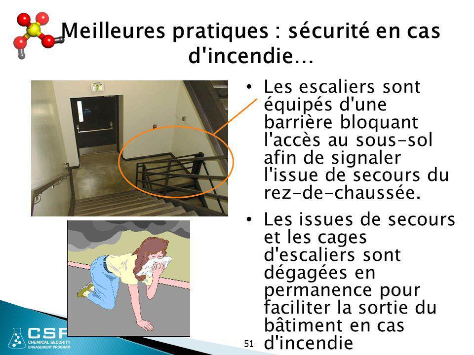 Meilleures pratiques : sécurité en cas d incendie…