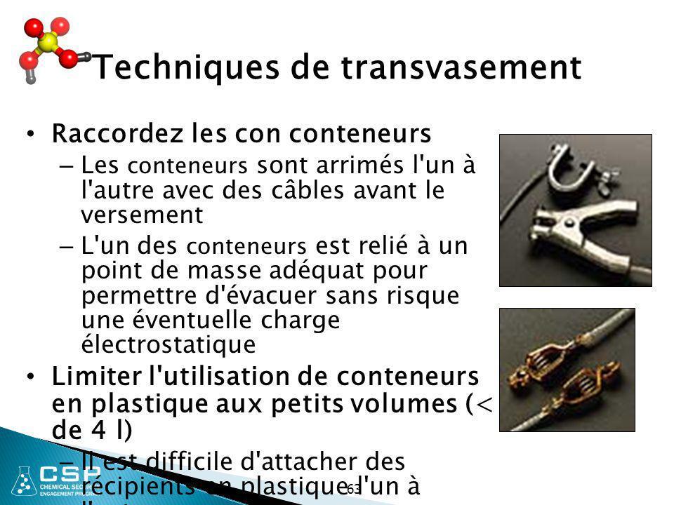Techniques de transvasement