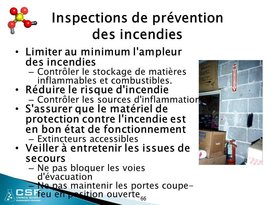 Inspections de prévention des incendies