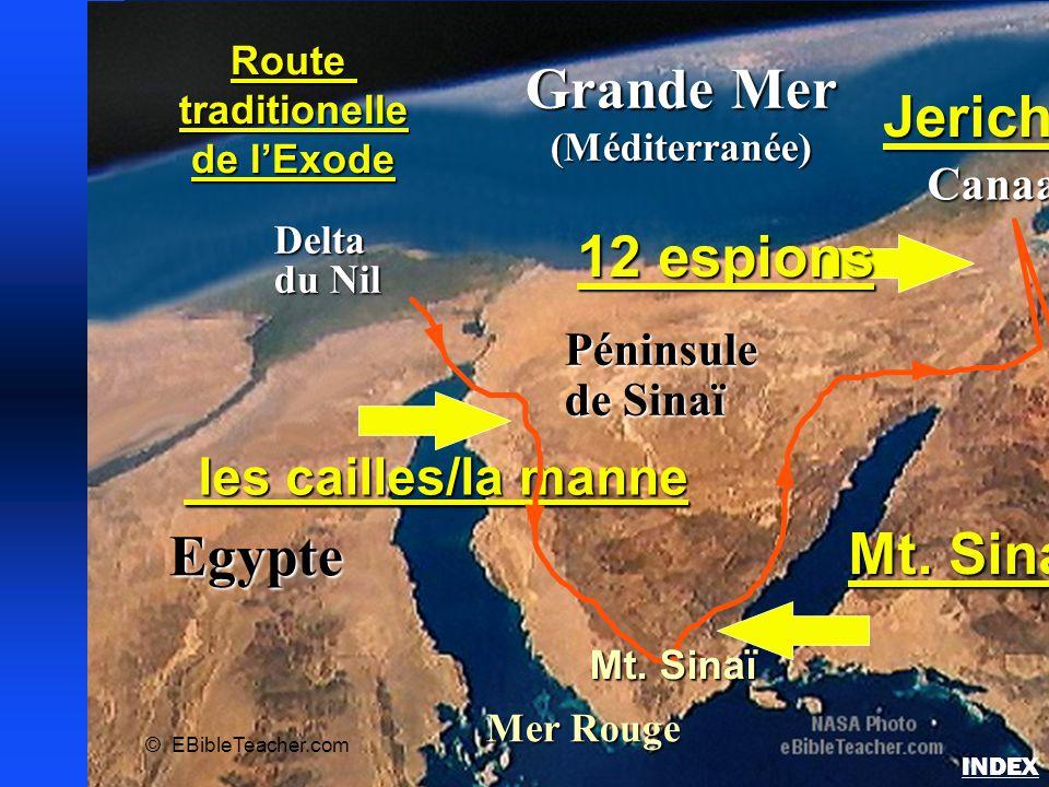 Carte des événements majeurs de l'Exode
