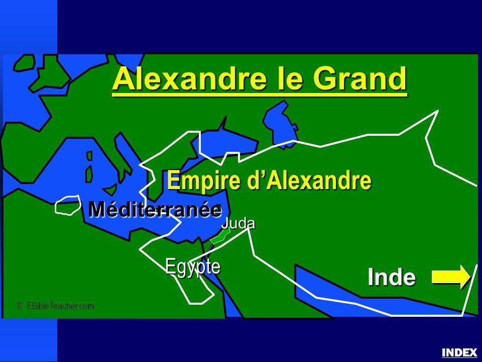 Alexandre le Grand Empire d'Alexandre Inde Méditerranée Egypte Juda