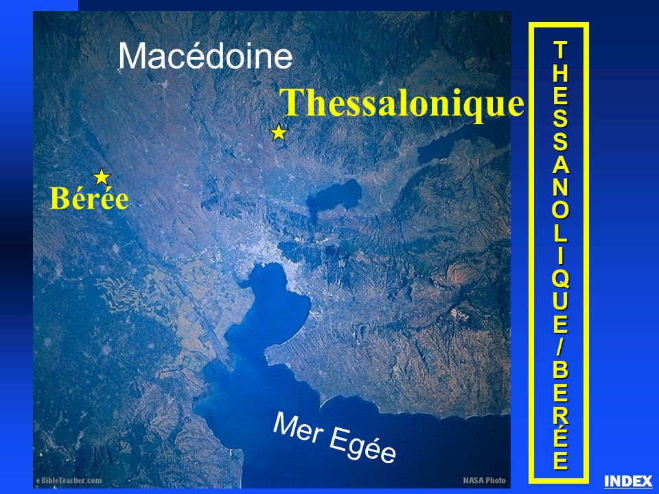 Thessalonique Macédoine Bérée Mer Egée T H E S A N O L I Q U / B R É
