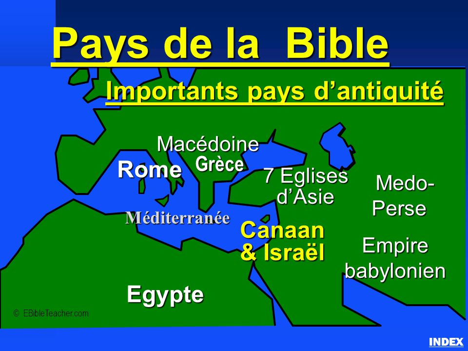 Importants pays d'antiquité
