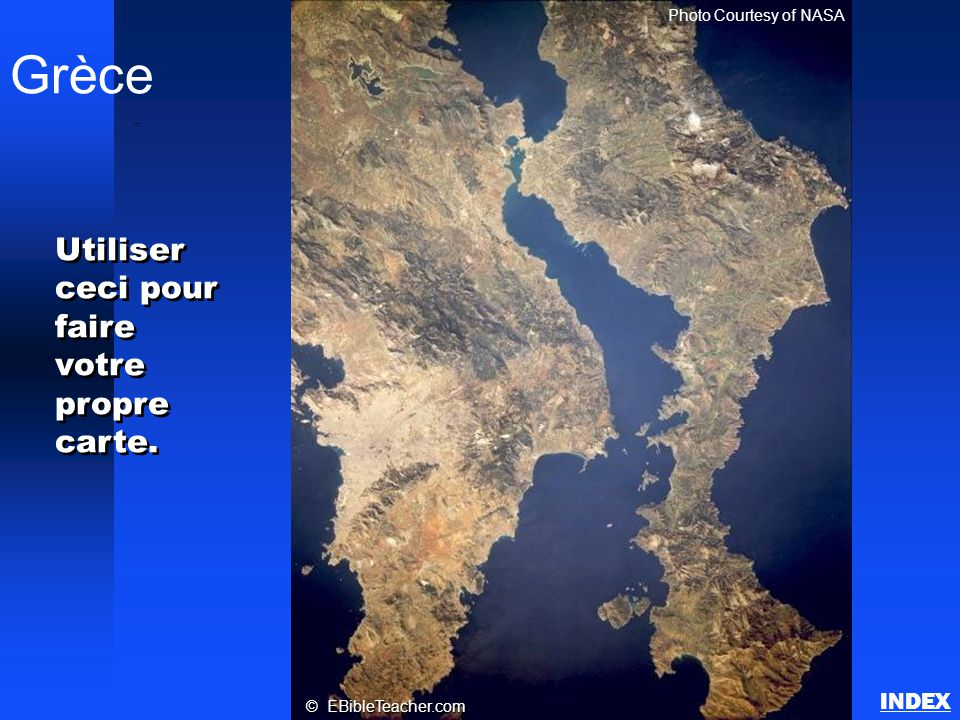 Grèce Utiliser ceci pour faire votre propre carte. INDEX