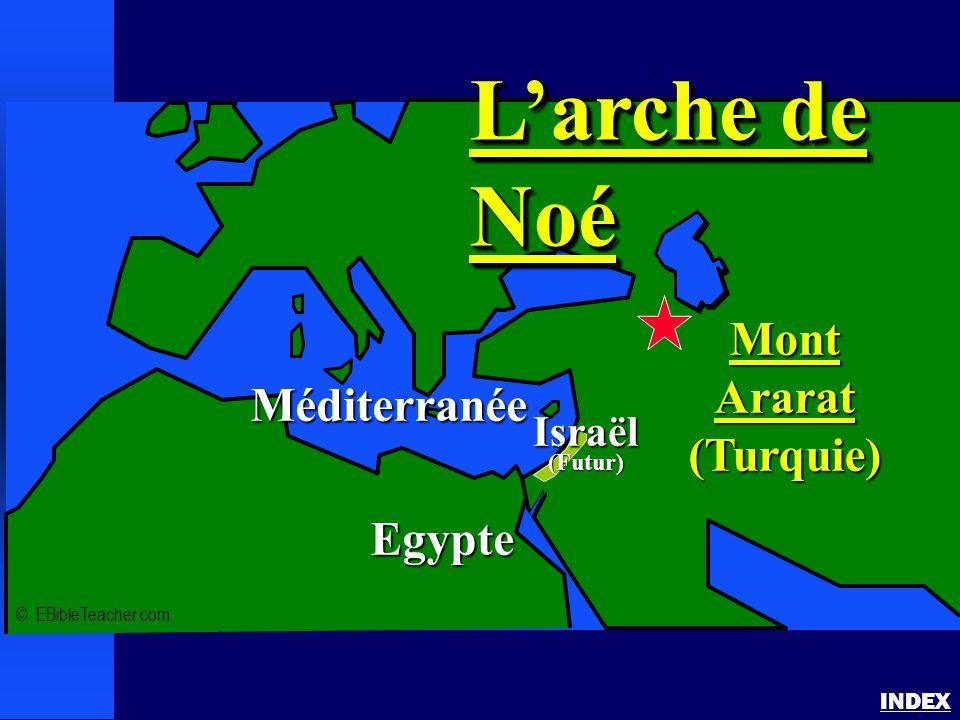 L'arche de Noé Mont Ararat (Turquie) Méditerranée Egypte Israël