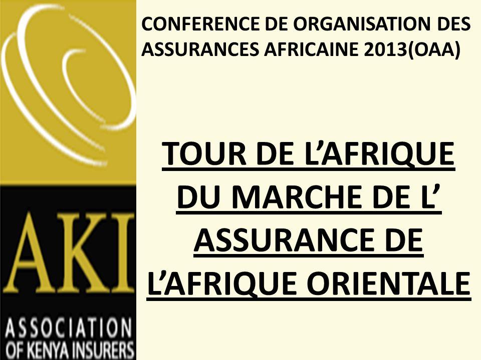 TOUR DE L'AFRIQUE DU MARCHE DE L' ASSURANCE DE L'AFRIQUE ORIENTALE