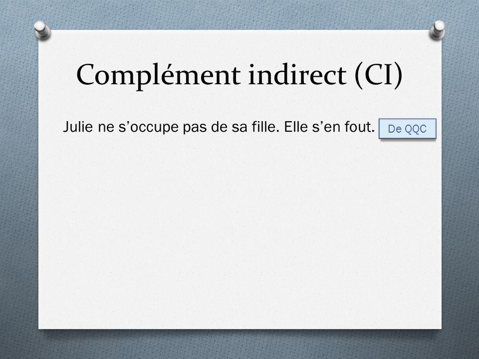 Complément indirect (CI)