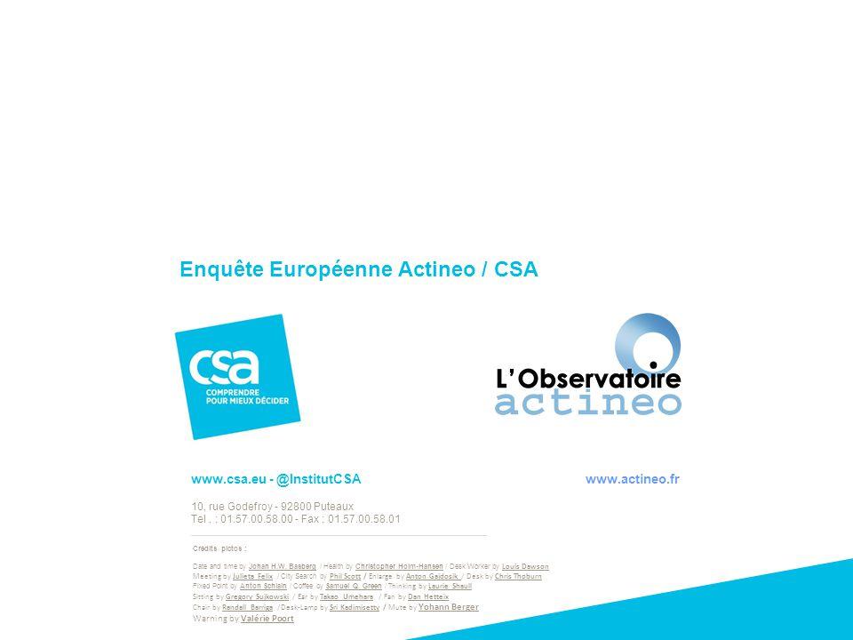 Enquête Européenne Actineo / CSA