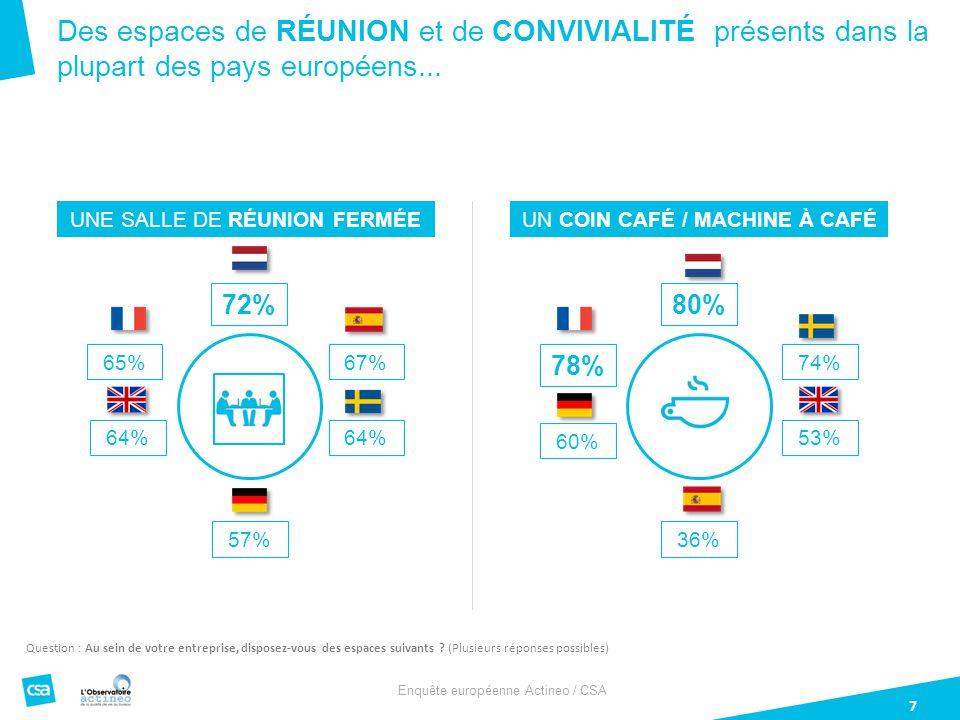 Des espaces de réunion et de CONVIVIALITÉ présents dans la plupart des pays européens...