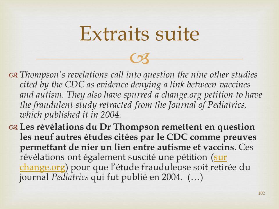 Extraits suite