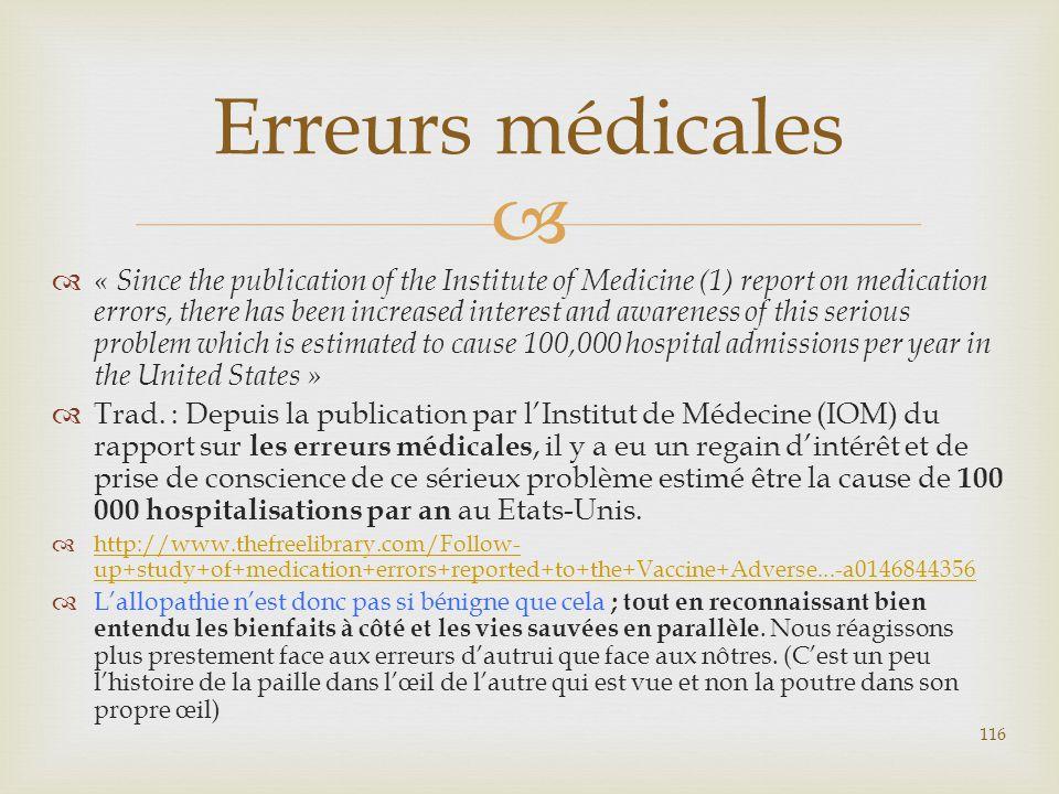 Erreurs médicales