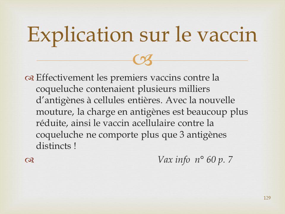 Explication sur le vaccin