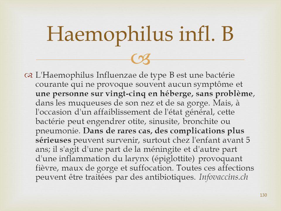 Haemophilus infl. B