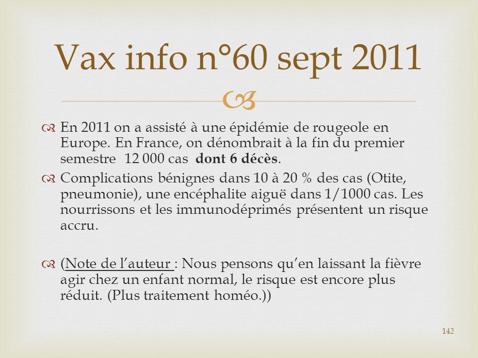 Vax info n°60 sept 2011