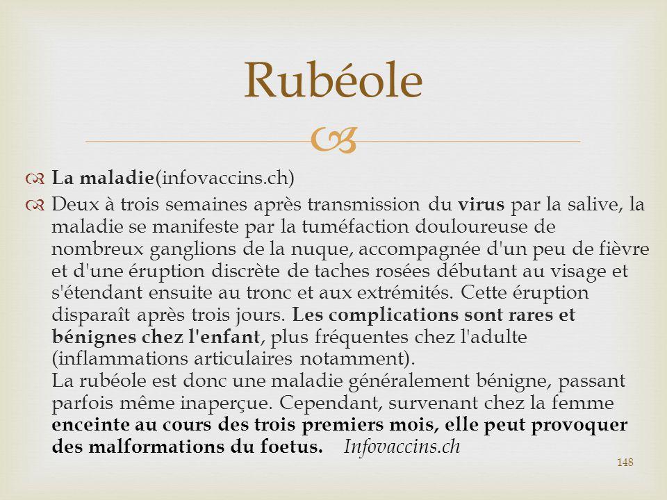 Rubéole La maladie(infovaccins.ch)