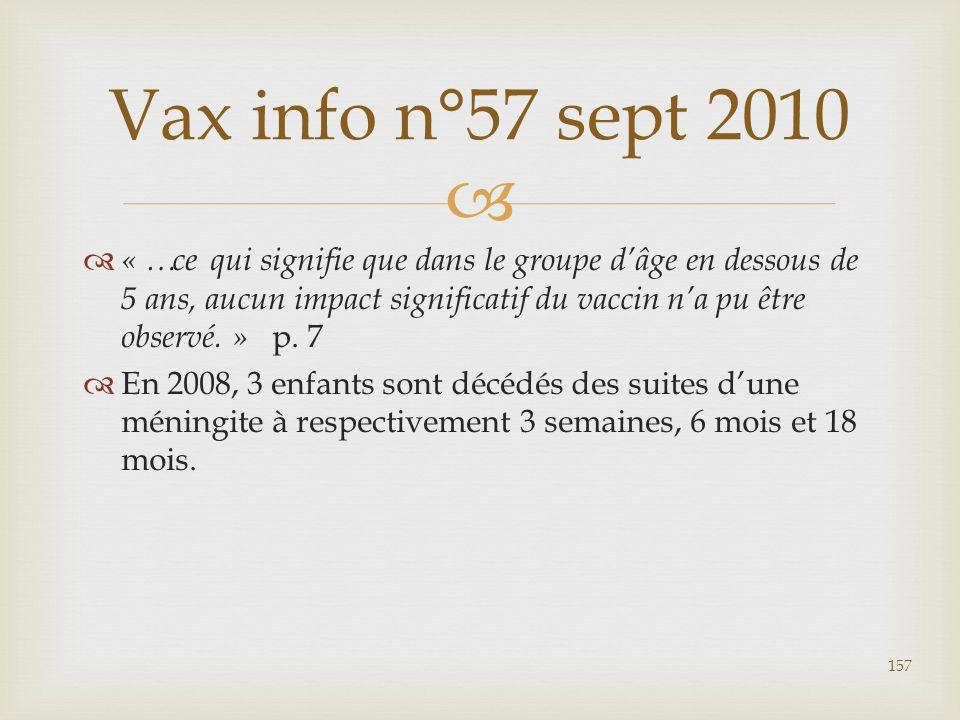 Vax info n°57 sept 2010