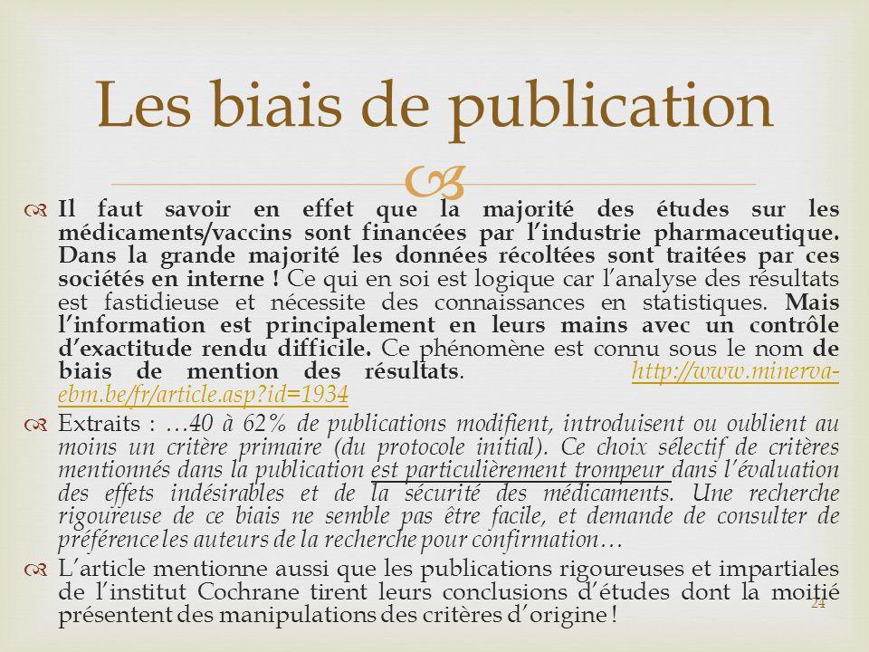 Les biais de publication