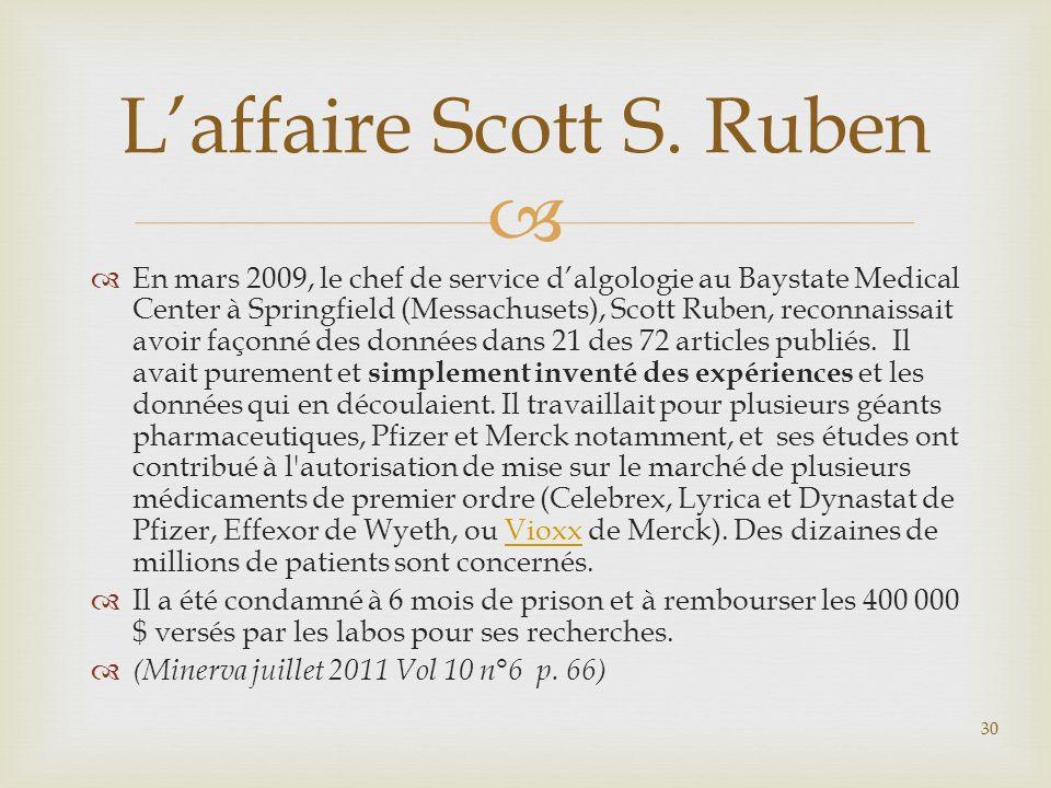 L'affaire Scott S. Ruben