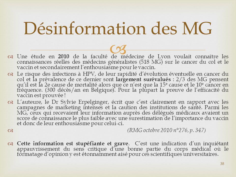 Désinformation des MG