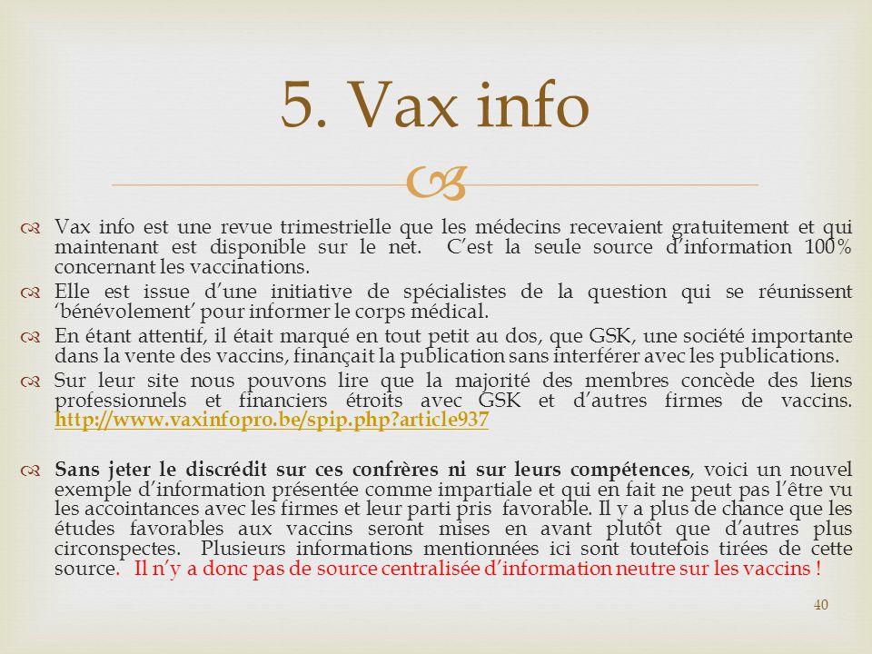 5. Vax info