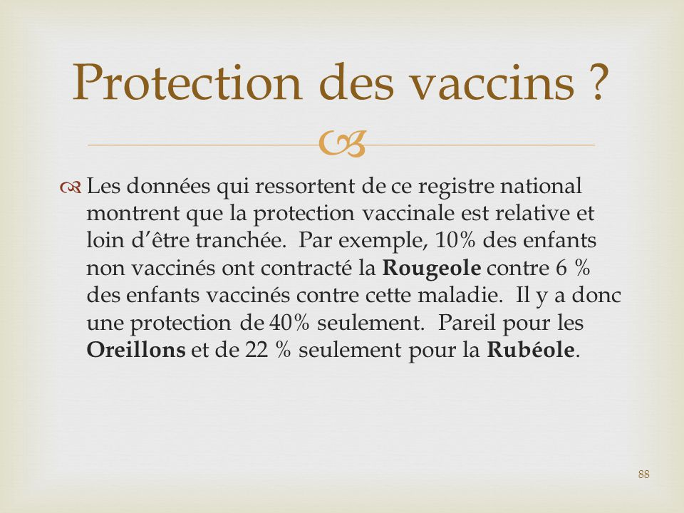 Protection des vaccins