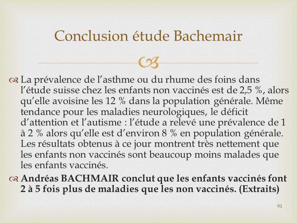Conclusion étude Bachemair