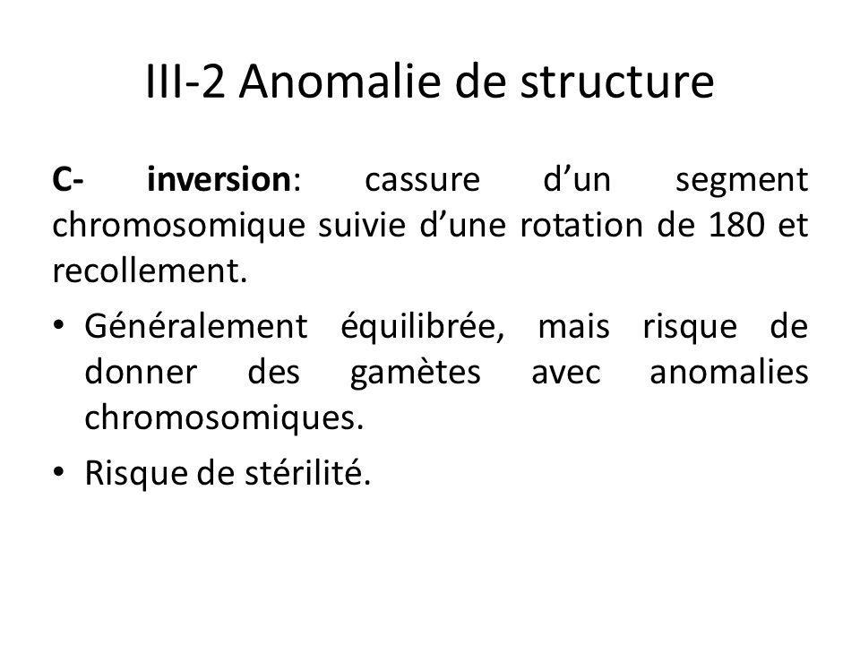 III-2 Anomalie de structure