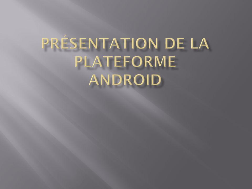 Présentation de la plateforme Android