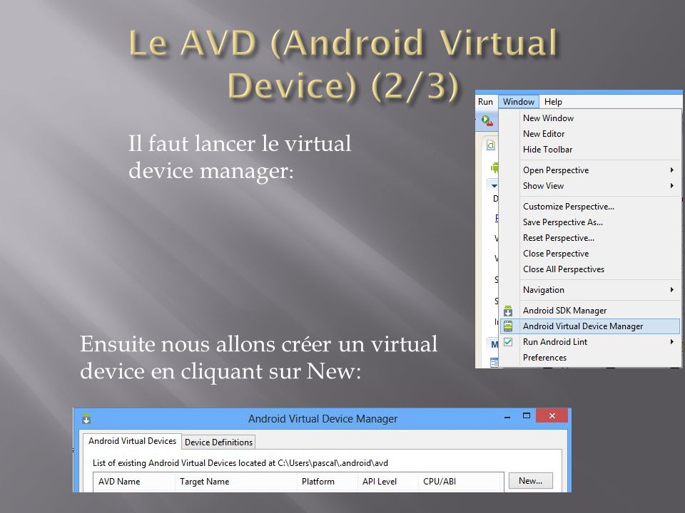 Le AVD (Android Virtual Device) (2/3)