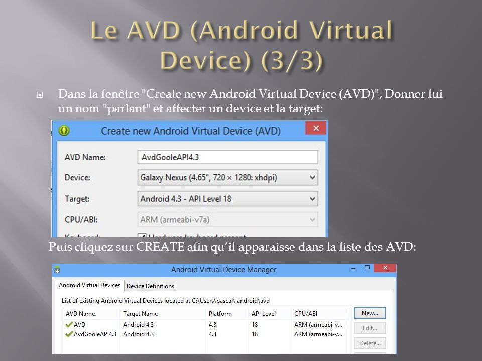 Le AVD (Android Virtual Device) (3/3)