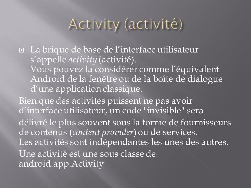 Activity (activité)