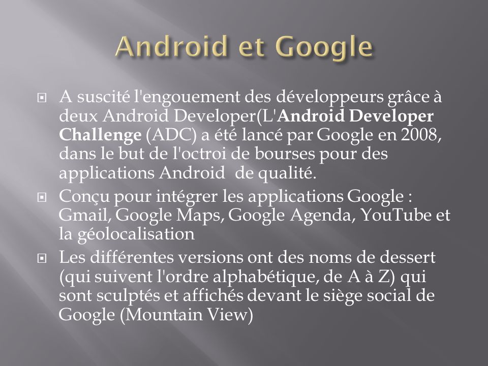 Android et Google