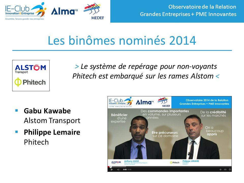 Les binômes nominés 2014 > Le système de repérage pour non-voyants Phitech est embarqué sur les rames Alstom <