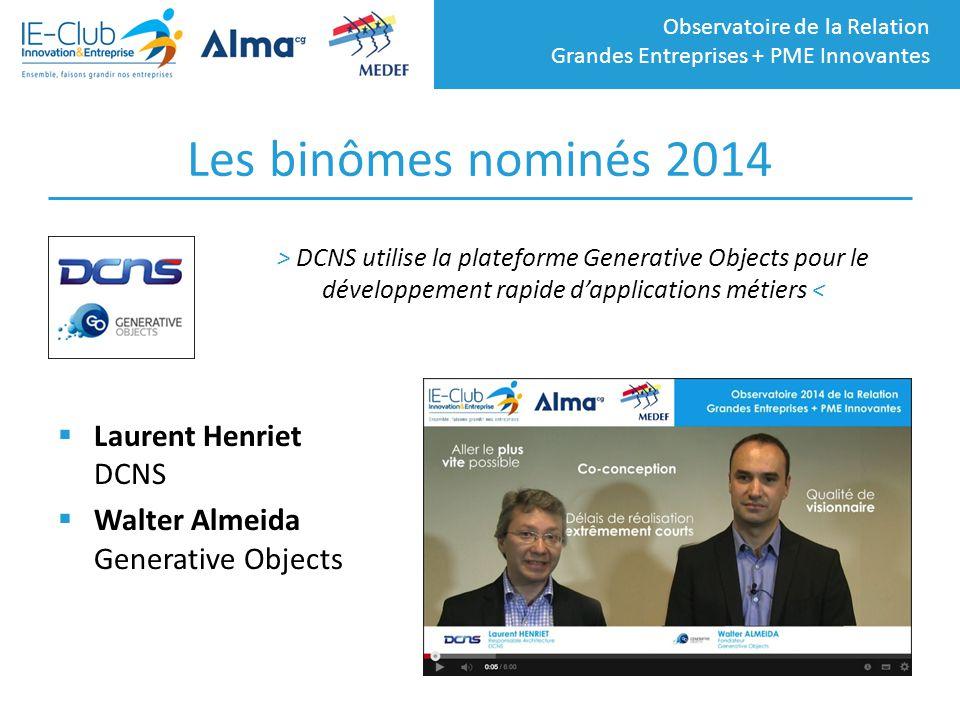 Les binômes nominés 2014 Laurent Henriet DCNS