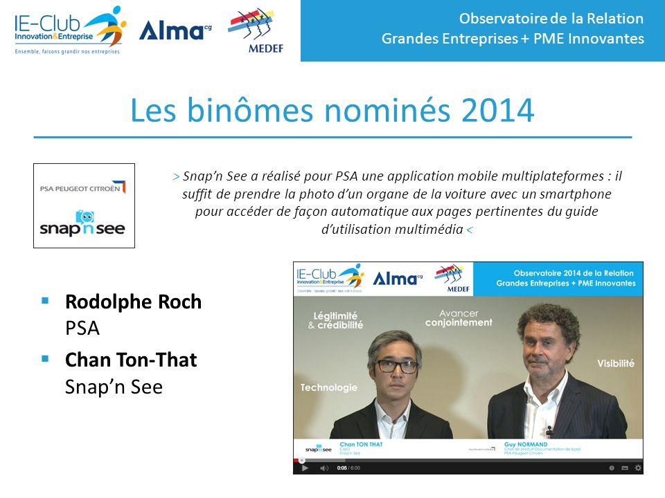 Les binômes nominés 2014 Rodolphe Roch PSA Chan Ton-That Snap'n See