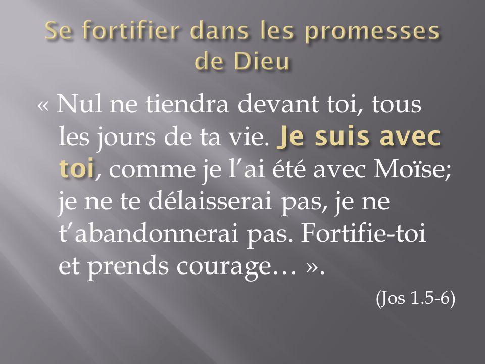 Se fortifier dans les promesses de Dieu