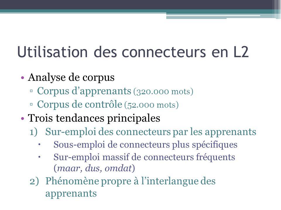 Utilisation des connecteurs en L2