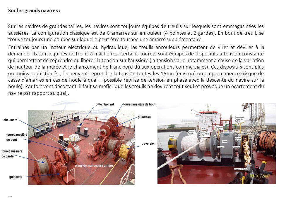 Sur les grands navires :